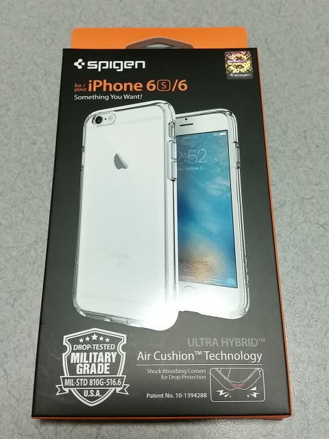 Spigen Ultra Hybrid for iPhone 6s パッケージ